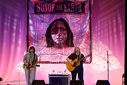 Amy Ray and Emily Saliers of The Indigo Girls perform at Town Hall, Provincetown, MA August 15, 2012.