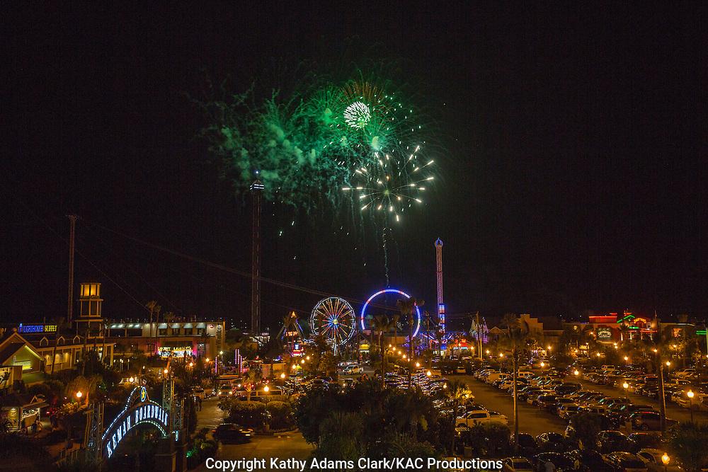 Fireworks, Kemah Boardwalk, Kemah, Texas, amusement park
