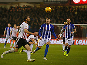 Sheffield Wednesday defender Matt Penney (42)  during the EFL Sky Bet Championship match between Sheffield United and Sheffield Wednesday at Bramall Lane, Sheffield, England on 9 November 2018.