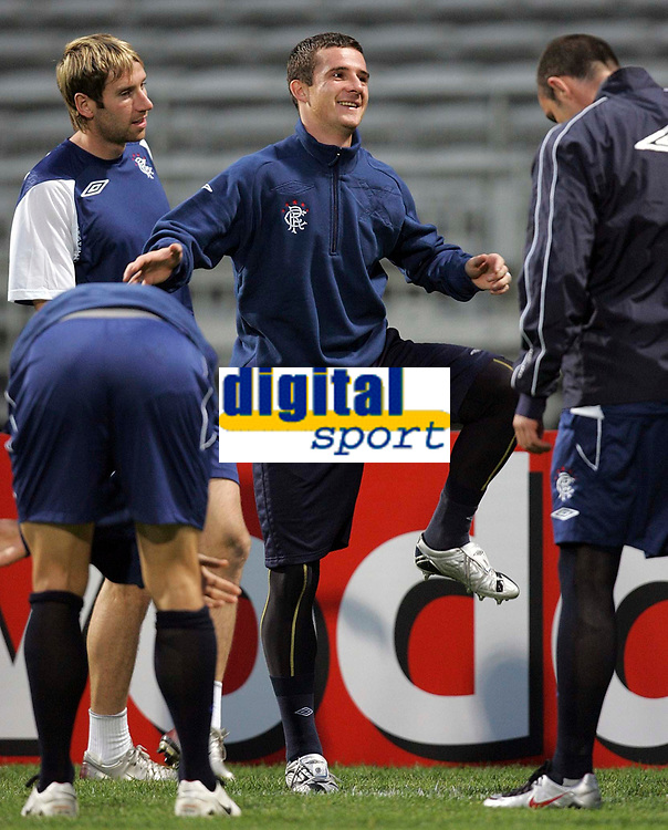 Photo: Paul Thomas.<br /> Rangers Training session. UEFA Champions League. 01/10/2007.<br /> <br /> Barry Ferguson of Rangers during their training session in Lyon.