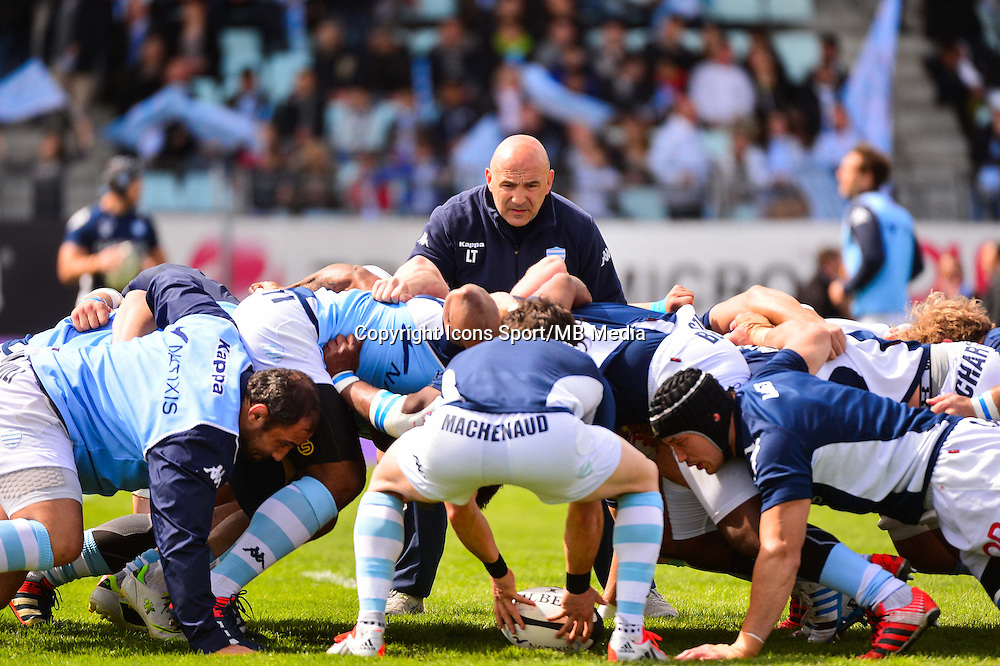 Laurent TRAVERS  - 11.04.2015 - Racing Metro / Montpellier  - 22eme journee de Top 14 <br />