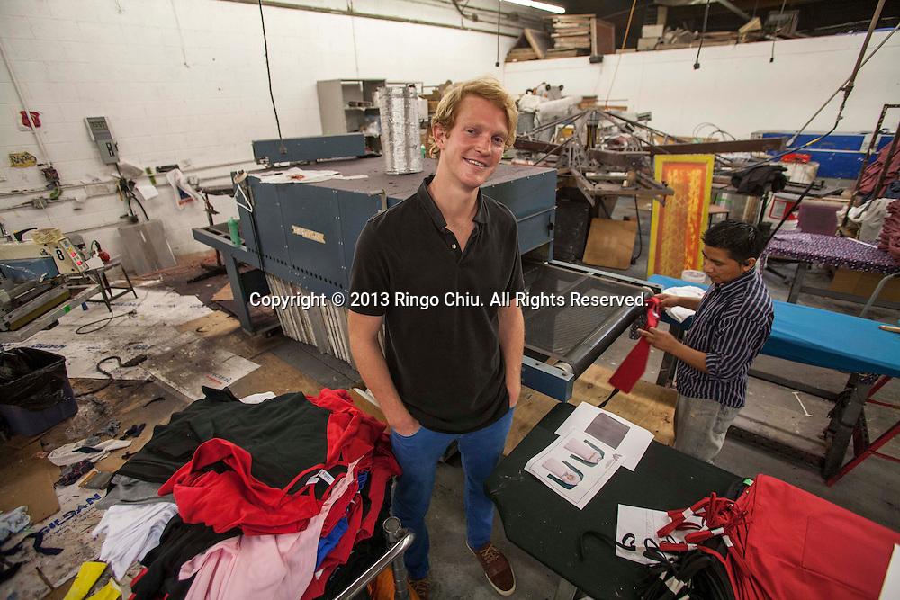 Dalton Gerlach, founder of apparel company Ensyd. (Photo by Ringo Chiu/PHOTOFORMULA.com).