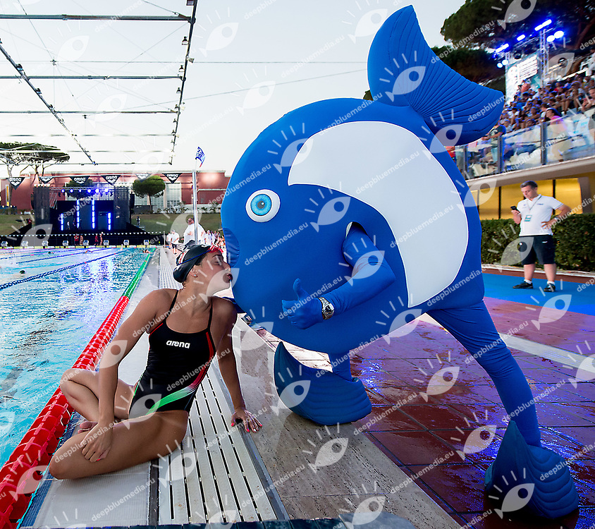 Elena Di Liddo ITA Italy and mascotte<br /> day 01  08-08-2017<br /> Energy For Swim<br /> Rome  08 -09  August 2017<br /> Stadio del Nuoto - Foro Italico<br /> Photo Deepbluemedia/Insidefoto