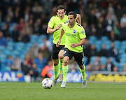 Brighton striker, Sam Baldock (9) during the Sky Bet Championship match between Leeds United and Brighton and Hove Albion at Elland Road, Leeds, England on 17 October 2015.