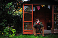 Picture By Jim Wileman  26/10/2009  Writer and journalist Caspar Walsh, pictured at home in Dartington, South Devon.