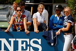 Springsteen, Jessica (USA)<br /> Wagers, Jana (GER)<br /> Rüsen, Angelique (GER)<br /> Klaphake, Laura (GER) <br /> Berlin - Global Jumping Berlin 2017<br /> © www.sportfotos-lafrentz.de/Stefan Lafrentz