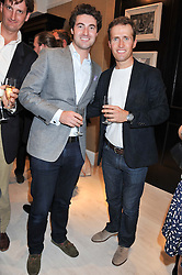 Left to right, OLLIE BAINES and HUMPHREY BERNEY from Blake at the launch of the Bremont Boutique, 29 South Audley Street, London on 17th July 2012.
