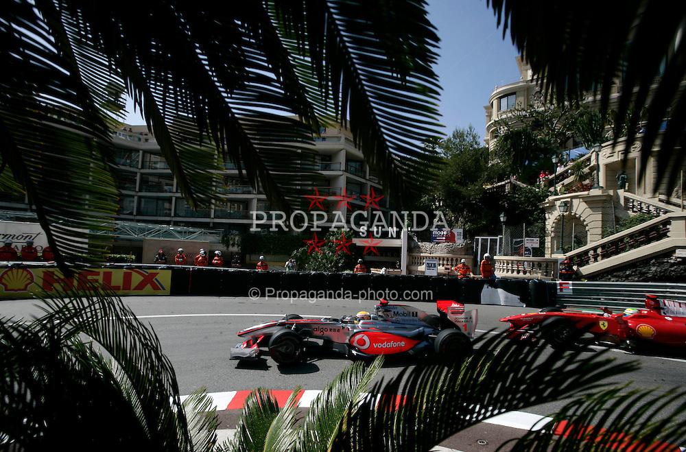 MONTE-CARLO, MONACO - Thursday, May 21, 2009: Lewis Hamilton (GBR, Vodafone McLaren Mercedes) during practice for the Monaco Formula One Grand Prix at the Monte-Carlo Circuit. (Pic by Juergen Tap/Hoch Zwei/Propaganda)