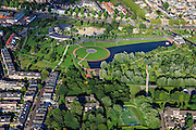 Nederland, Utrecht, Utrecht, 15-07-2012; binnenstad Utrecht, Griftpark..Public park in Utrecht: Griftpark..luchtfoto (toeslag), aerial photo (additional fee required).foto/photo Siebe Swart