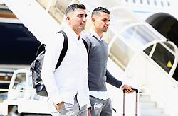 BASEL, SWITZERLAND - MAY 17: Sevilla's Jose Antonio Reyes arrives at Basel Airport ahead of the UEFA Europa League Final against Liverpool. (Pic by UEFA/Pool/Propaganda)