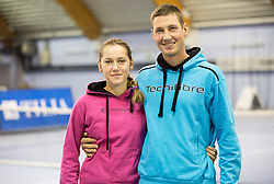 Kaja Juvan and her coach Robert Cokan at Istenic doubles Tournament and Slovenian Tennis personality of the year 2015 annual awards presented by Slovene Tennis Association TZS, on December 12, 2015 in Millenium Centre, BTC, Ljubljana, Slovenia. Photo by Vid Ponikvar / Sportida