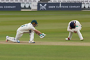 Colin Ackemann Sweeps during the Specsavers County Champ Div 2 match between Middlesex County Cricket Club and Leicestershire County Cricket Club at Lord's Cricket Ground, St John's Wood, United Kingdom on 17 May 2019.