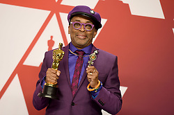 Spike Lee, winner of Best Adapted Screenplay for 'BlacKkKlansman,' poses in the press room during the 91st Annual Academy Awards at Hollywood and Highland on February 24, 2019 in Los Angeles, CA, USA. Photo by Lionel Hahn/ABACAPRESS.COM