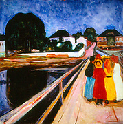 Girls on a Bridge, by Edvard Munch, oil on canvas, 1902