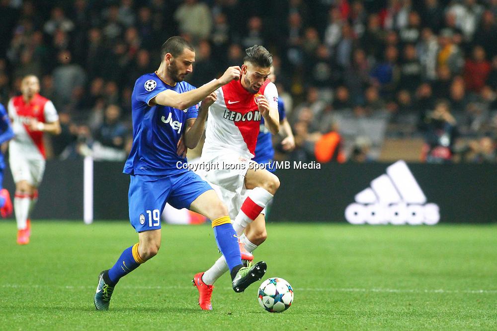 Leonardo BONUCCI / Yannick FERREIRA CARRASCO  - 22.04.2015 - Monaco / Juventus Turin - 1/4Finale retour Champions League<br />Photo : Serge Haouzi / Icon Sport