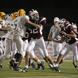 31 October, 2008:  St. Thomas Aquinas DT/OT Hunter Cannino (#62) The St. Thomas Falcons recorded their first shut out of the season with a 41-0 shutout of the Southern Lab Kittens at Strawberry Stadium in Hammond, LA.