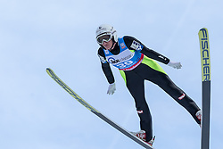 30.01.2016, Normal Hill Indiviual, Oberstdorf, GER, FIS Weltcup Ski Sprung Ladis, Bewerb, im Bild Daniela Iraschko Stolz (AUT) // Daniela Iraschko Stolz of Austria during his Competition Jump of Four Hills Tournament of FIS Ski Jumping World Cup Ladis at the Normal Hill Indiviual, Oberstdorf, Germany on 2016/01/30. EXPA Pictures © 2016, PhotoCredit: EXPA/ Peter Rinderer