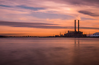 NEW ORLEANS - CIRCA FEBRUARY 2014: Sunset over the Mississippi River in New Orleans