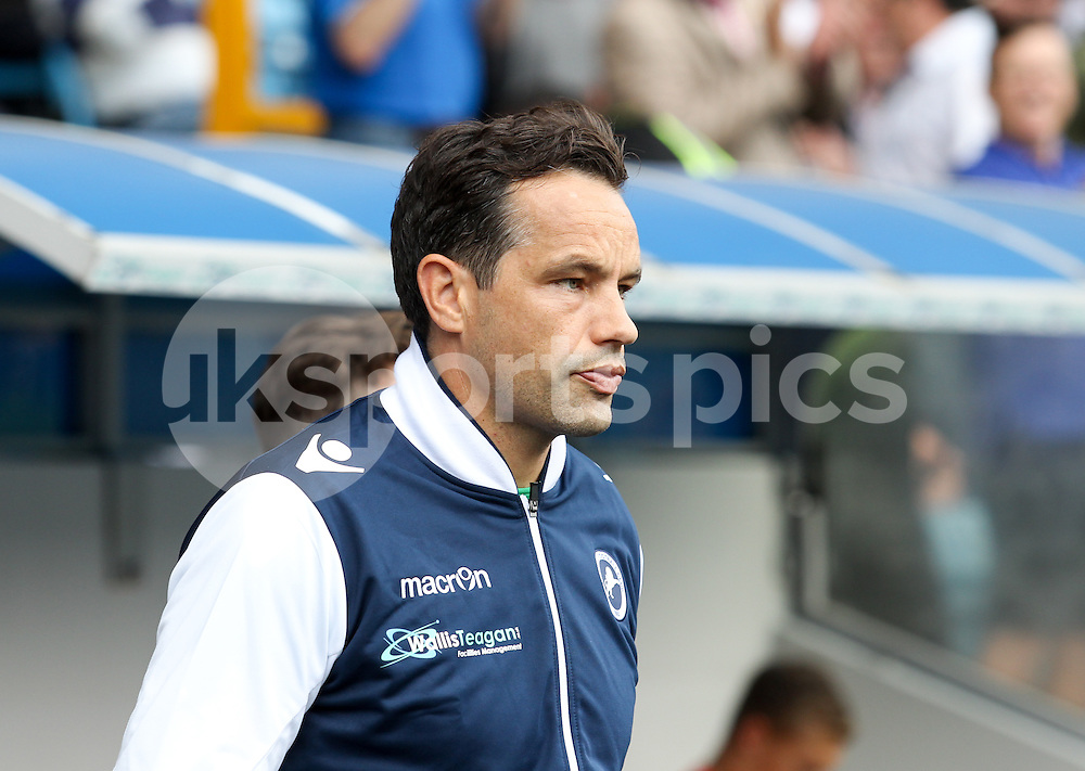 David Forde of Millwall enters the field before the Sky Bet League 1 match between Millwall and Coventry City at The Den, London, England on 15 August 2015. Photo by Edmund  Boyden.