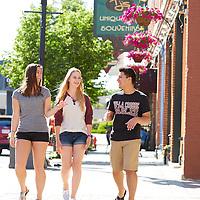 2016 Students Downtown La Crosse