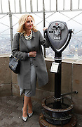 J.K. Rowling is pictured on the 86th floor of the Empire State Building after lighting the iconic building to mark the launch of her children's non-profit organization, Lumos USA, which works to end the institutionalization of 8 million children around the world living in orphanages despite most having parents and families that could care for them with some support, New York, Thursday, April 9, 2015. (Photo Stuart Ramson for Lumos)