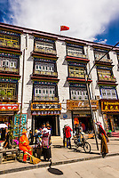 Building exterior, Old Lhasa, Tibet (Xizang), China.