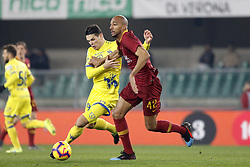 February 8, 2019 - Verona, Italia - Foto Paola Garbuio/LaPresse.08 febbraio 2019 Verona, Italia.sport.calcio.Chievo Verona  vs Roma- Campionato di calcio Serie A TIM 2018/2019 - stadio Bentegodi.Nella foto: nzonzi,stepinsky..Photo Paola Garbuio/LaPresse.february  08, 2019 Verona, Italy.sport.soccer.Chievo Verona  vs Roma  - Italian Football Championship League A TIM 2018/2019 -  stadio Bentegodi..In the pic:nzonzi,stepinsky (Credit Image: © Paola Garbuio/Lapresse via ZUMA Press)