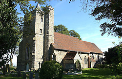 COOLING VILLAGE CHURCH at the wedding of musician JOOLS HOLLAND to LADY CRYSTALBEL DURHAM held at Cooling Village Church, Cooling, Kent on 30th August 2005.<br /><br />NON EXCLUSIVE - WORLD RIGHTS