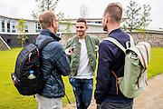 WIJDEWORMER - 08-07-2016, afscheid Vincent Jansen, AFAS trainingscomplex, Theo Brinkman van het NHD en Nick Kok van het AD.