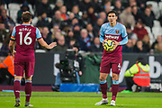 Fabian Balbuena (West Ham) during the Premier League match between West Ham United and Arsenal at the London Stadium, London, England on 9 December 2019.