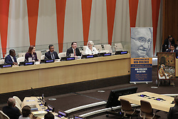 October 2, 2018 - New York, NY, USA - United Nations, New York, USA, October 02, 2018 - Maria Fernanda Espinosa Garces President of the 73 rd Session of the General Assembly During the Event entitled Non-violence in Action (on the occasion of the International Day of Non-Violence) today at the UN Headquarters in New York..Photo: Luiz Rampelotto/EuropaNewswire (Credit Image: © Luiz Rampelotto/ZUMA Wire)