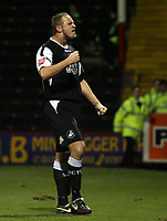 Photo: Paul Thomas.<br /> Rotherham United v Swansea City. Coca Cola League 2. 27/02/2007.<br /> <br /> Goal scorer Lee Trundle of Swansea celebrates.