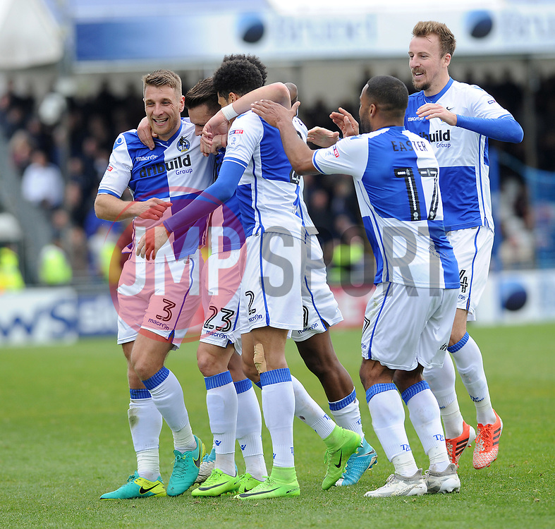 Bristol Rovers celebrate the equaliser from Billy Bodin\ - Mandatory by-line: Neil Brookman/JMP - 30/04/2017 - FOOTBALL - Memorial Stadium - Bristol, England - Bristol Rovers v Millwall - Sky Bet League One