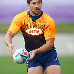 TOKYO, JAPAN - OCTOBER 15: Frans Steyn during the South African national rugby team training session at Fuchu Asahi Football Park on October 15, 2019 in Tokyo, Japan. (Photo by Steve Haag/Gallo Images)