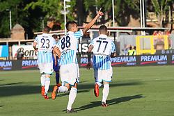 """Foto /Filippo Rubin<br /> 20/05/2018 Ferrara (Italia)<br /> Sport Calcio<br /> Spal - Sampdoria - Campionato di calcio Serie A 2017/2018 - Stadio """"Paolo Mazza""""<br /> Nella foto: GOAL SPAL ALBERTO GRASSI (SPAL)<br /> <br /> Photo /Filippo Rubin<br /> May 20, 2018 Ferrara (Italy)<br /> Sport Soccer<br /> Spal vs Sampdoria - Italian Football Championship League A 2017/2018 - """"Paolo Mazza"""" Stadium <br /> In the pic: GOAL SPAL ALBERTO GRASSI (SPAL)"""