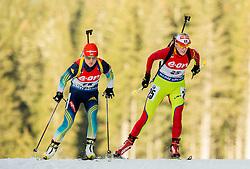 Eva Tofalvi of Romania competes during Women 7.5 km Sprint at day 1 of IBU Biathlon World Cup 2014/2015 Pokljuka, on December 18, 2014 in Rudno polje, Pokljuka, Slovenia. Photo by Vid Ponikvar / Sportida