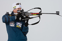 Peter Dokl of Slovenian Men Biathlon Team at Dachstein glacier before new season 2008/2009, Austria, on October 30, 2008.  (Photo by Vid Ponikvar / Sportida)