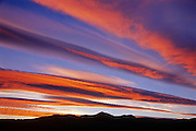 CLouds at sunset over the Canadian Rocky Mountains<br /> Burmis<br /> Alberta<br /> Canada