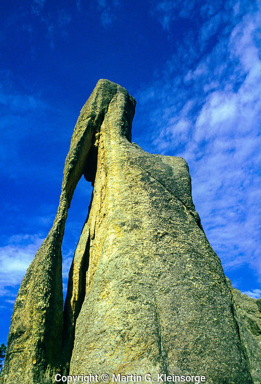 Eye of the Needle formation.  Found along the Needles Highway.  Custer State Park, South Dakota.