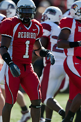 14 October 2006: Jesse Caesar.&#xD;The 6th largest crowd at Hancock Stadium came to watch a game that put 8th ranked Southern Illinois Salukis against 5th ranked Illinois State University Redbirds.  The Redbirds stole the show for a Homecoming win by a score of 37 - 10. Competition commenced at Hancock Stadium on the campus of Illinois State University in Normal Illinois.<br />