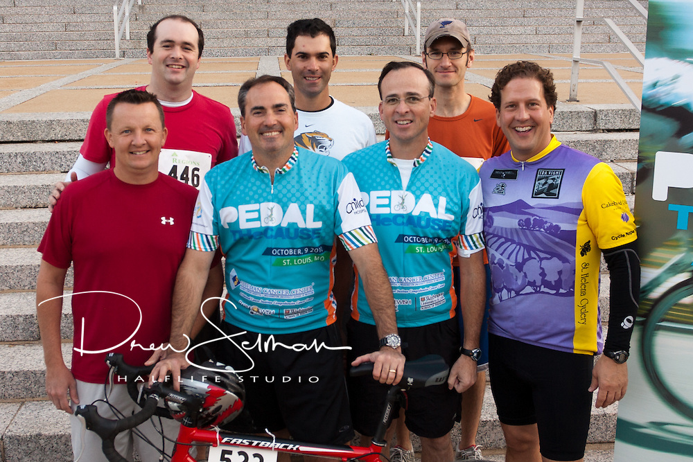 9-OCT-2010 - ST LOUIS -- Team photos taken for the 2010 Pedal the Cause in downtown St Louis.