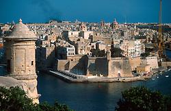 MALTA VALETTA JUL00 - View on the port of Valetta.....jre/Photo by Jiri Rezac....© Jiri Rezac 2000....Tel:   +44 (0) 7050 110 417..Email: info@jirirezac.com..Web:   www.jirirezac.com
