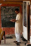 India, Nagar, Kullu District, Himachal Pradesh, Northern India, The teacher at a county school in Nagar