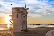 The Boardwalk at Laguna Beach Lifeguard Tower During Sunset