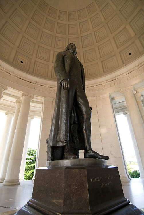 Washington DC; USA: The Thomas Jefferson Memorial, with his statue in a rotunda at the Tidal Basin.Photo copyright Lee Foster Photo # 6-washdc82770