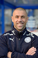 Leicester City First Team Coach Kevin Phillips smiling before k/o. Barclays Premier league match, Queens Park Rangers v Leicester city at Loftus Road in London on Saturday 29th November 2014.<br /> pic by John Patrick Fletcher, Andrew Orchard sports photography.