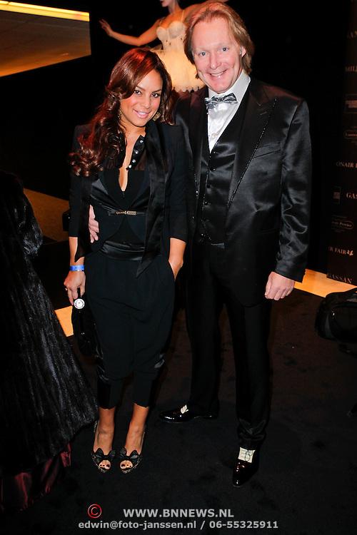 NLD/Amsterdam/20111208- VIP avond Miljonairfair 2011, Erwin Ketmann en partner Sheila Bergeik