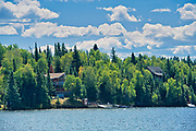 Cotttage and boathouse on Lake of the Woods<br /> Kenora<br /> Ontario<br /> Canada