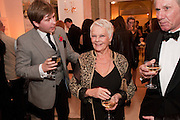 JAMES DAVIES; DAME JUDY DENCH, Harper's Bazaar Women Of the Year Awards 2011. Claridges. Brook St. London. 8 November 2011. <br /> <br />  , -DO NOT ARCHIVE-© Copyright Photograph by Dafydd Jones. 248 Clapham Rd. London SW9 0PZ. Tel 0207 820 0771. www.dafjones.com.