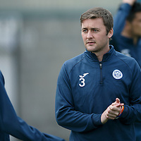 St Johnstone Training....23.10.15<br /> Tam Scobbie pictured in training this morning at McDiarmid Park before tomorrow's game against Inverness<br /> Picture by Graeme Hart.<br /> Copyright Perthshire Picture Agency<br /> Tel: 01738 623350  Mobile: 07990 594431